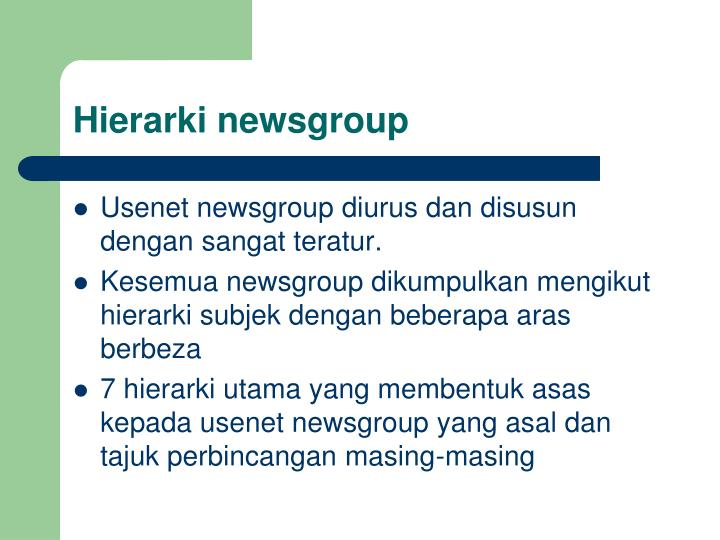Hierarki newsgroup