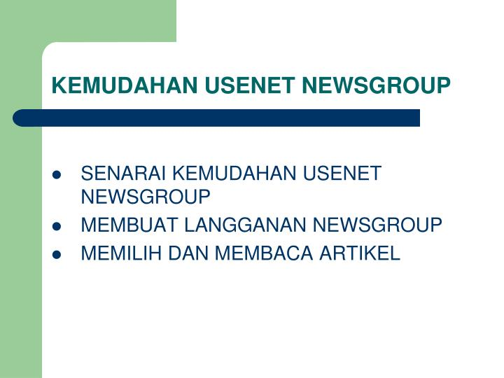 KEMUDAHAN USENET NEWSGROUP