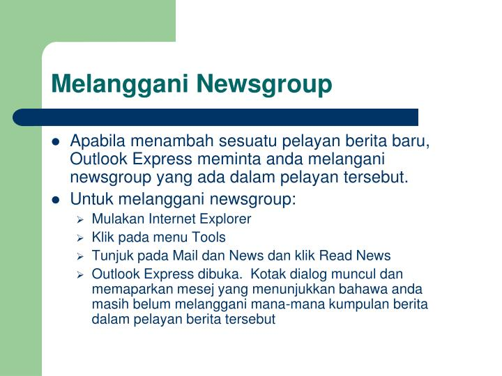 Melanggani Newsgroup