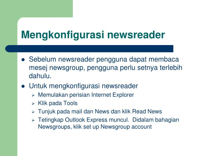 Mengkonfigurasi newsreader