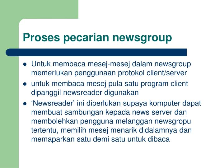 Proses pecarian newsgroup