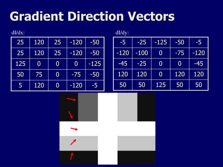 Gradient Direction Vectors