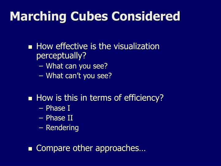 Marching Cubes Considered
