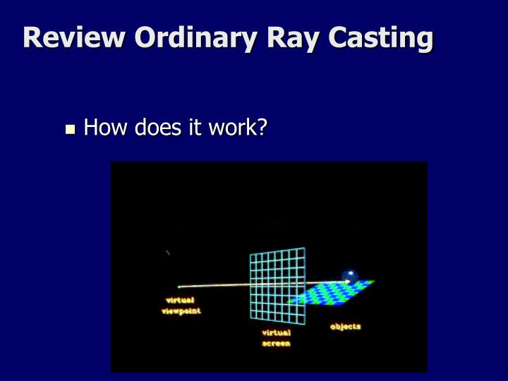 Review Ordinary Ray Casting