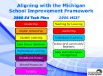 aligning with the michigan school improvement framework