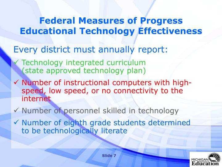 Federal Measures of Progress