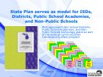 state plan serves as model for isds districts public school academies and non public schools