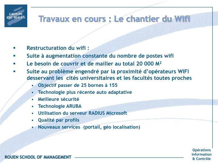 Travaux en cours : Le chantier du Wifi