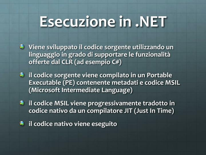 Esecuzione in .NET