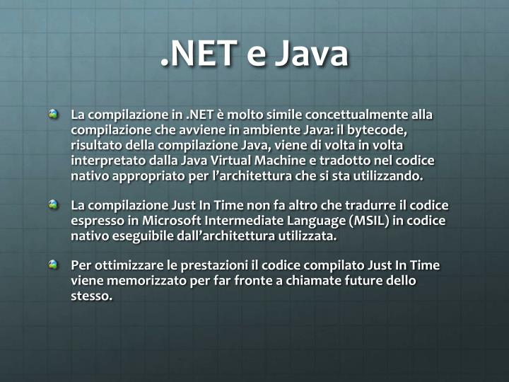 .NET e Java
