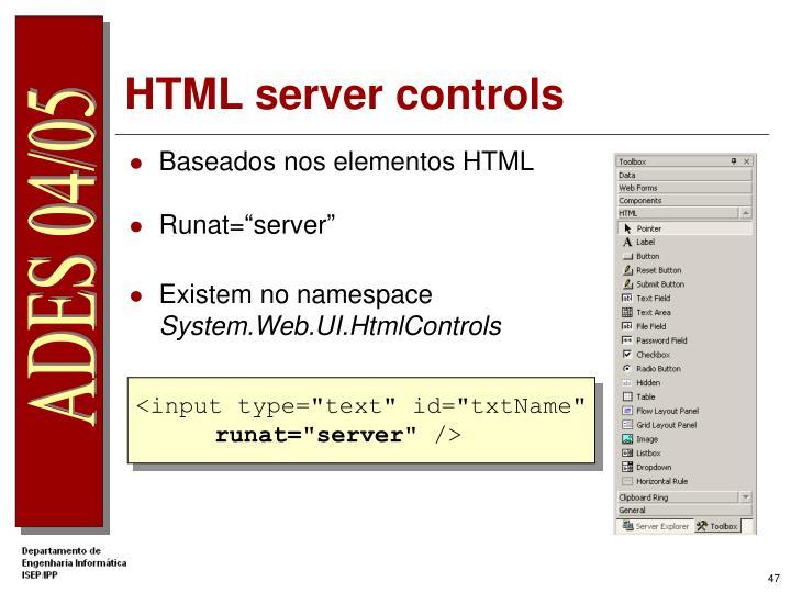 HTML server controls