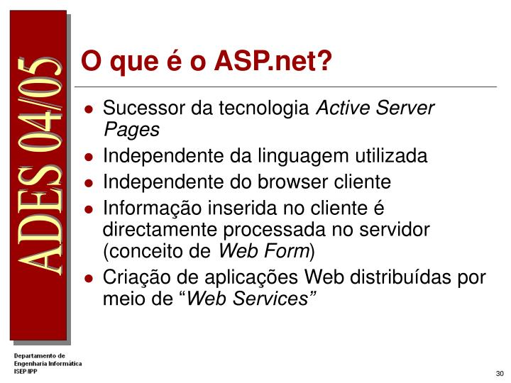 O que é o ASP.net?