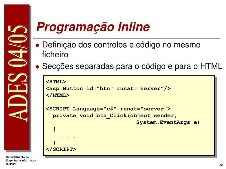 Programação Inline