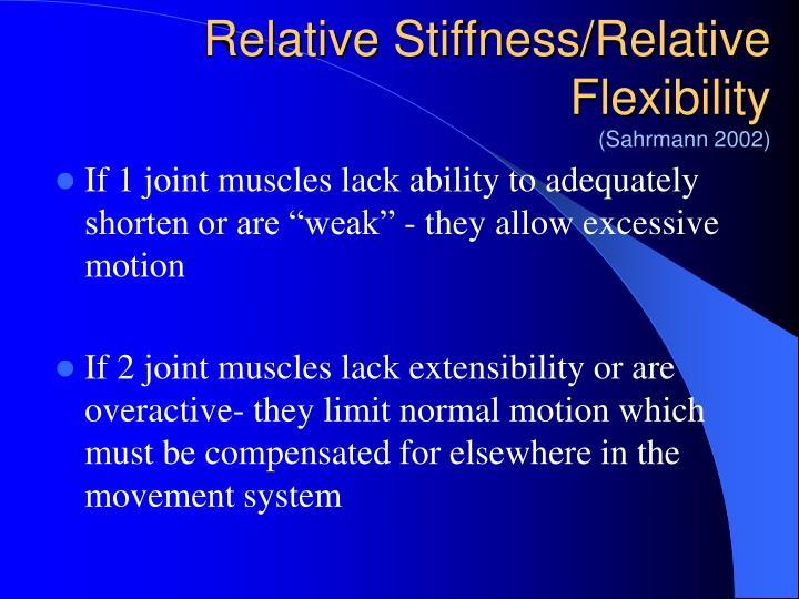 Relative Stiffness/Relative Flexibility