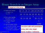 binary search in an integer array4