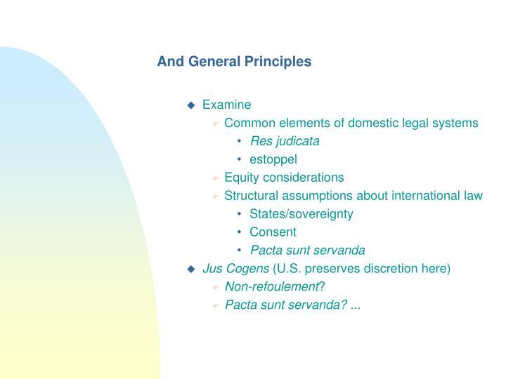 And General Principles