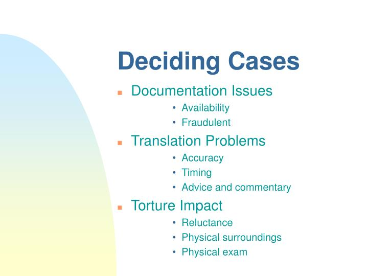 Deciding Cases