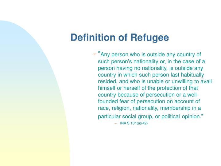 Definition of Refugee