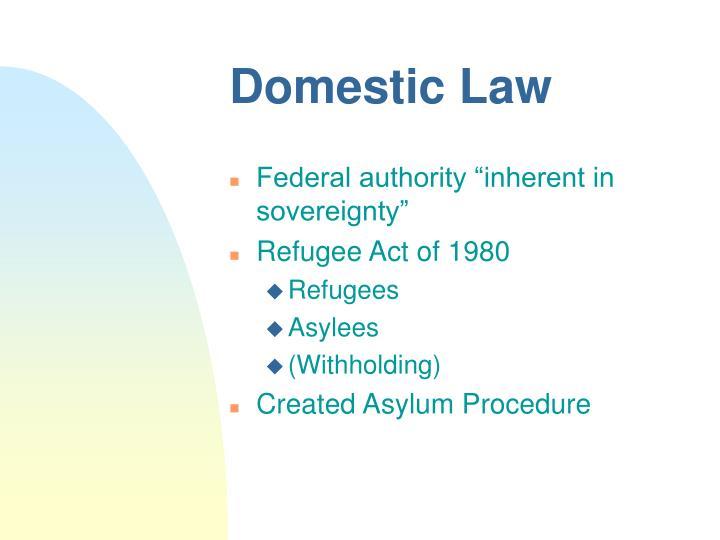 Domestic Law
