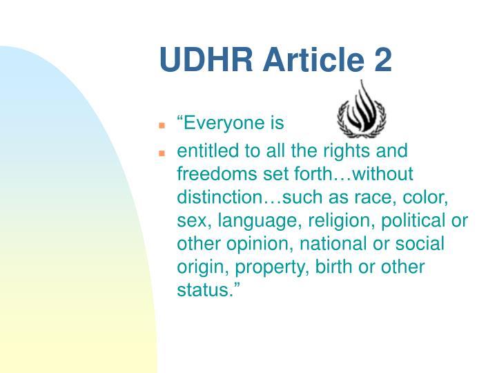 UDHR Article 2