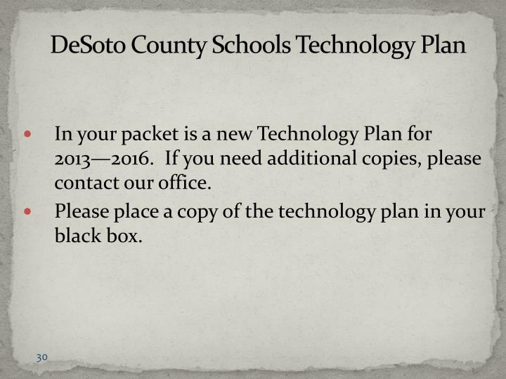 DeSoto County Schools Technology Plan