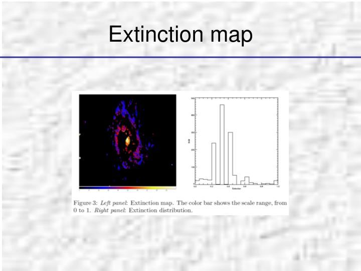 Extinction map