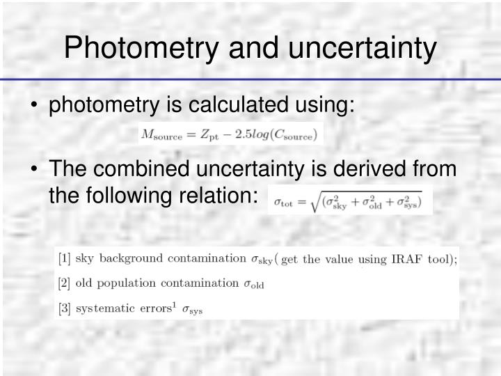 Photometry and uncertainty