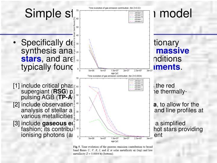 Simple stellar population model