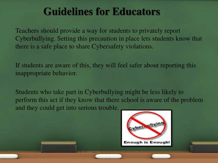 Guidelines for Educators