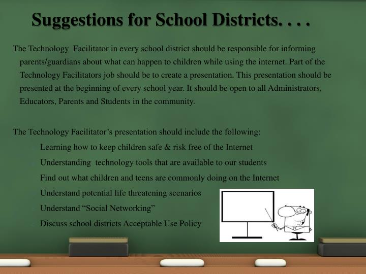 Suggestions for School Districts. . . .