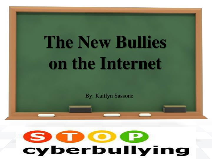 The new bullies on the internet