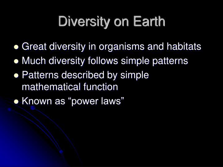 Diversity on Earth