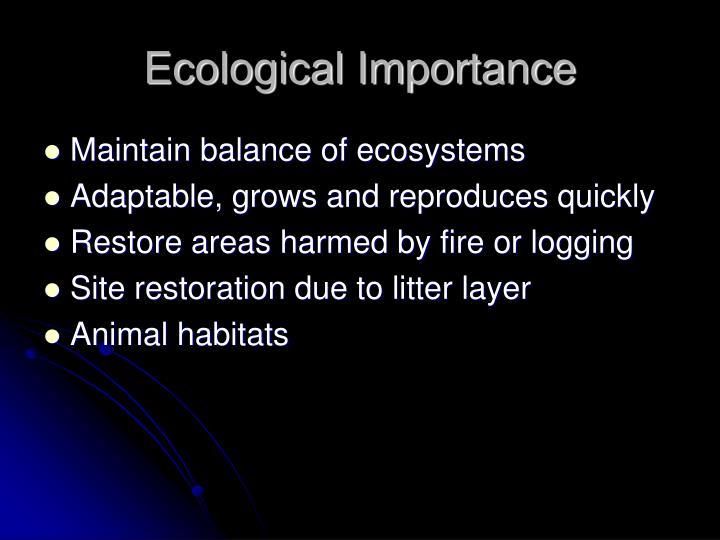 Ecological Importance