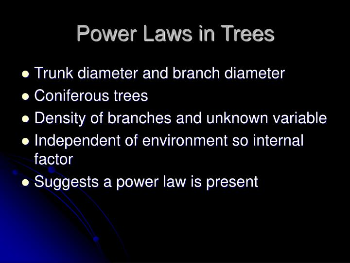 Power Laws in Trees