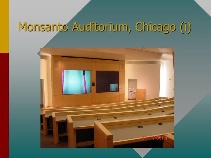 Monsanto Auditorium, Chicago (i)