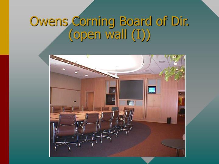 Owens Corning Board of Dir.