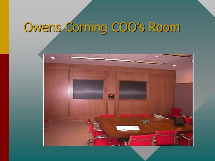 Owens Corning COO's Room