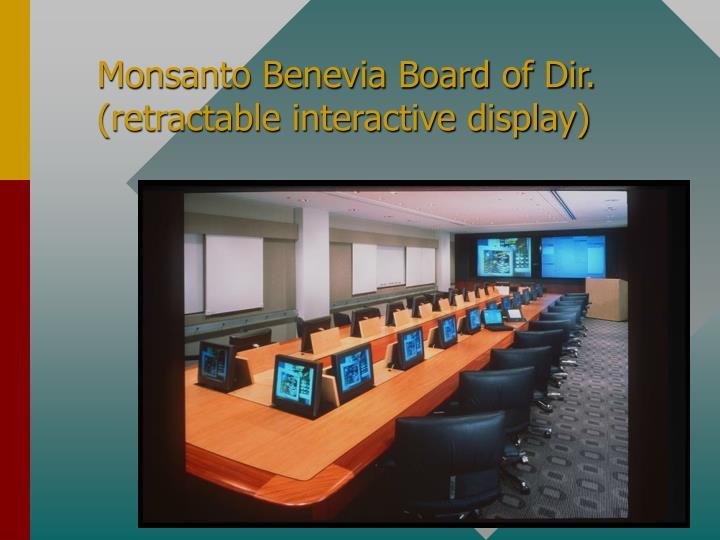Monsanto Benevia Board of Dir.