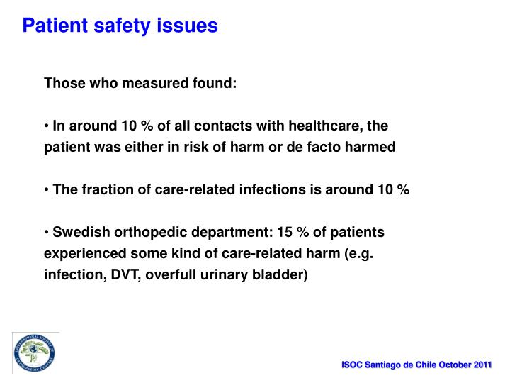 Patient safety issues