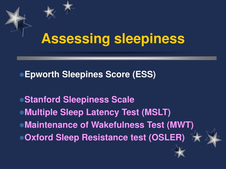 Assessing sleepiness