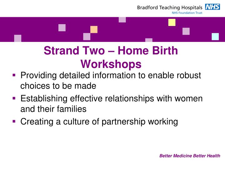 Strand Two – Home Birth Workshops