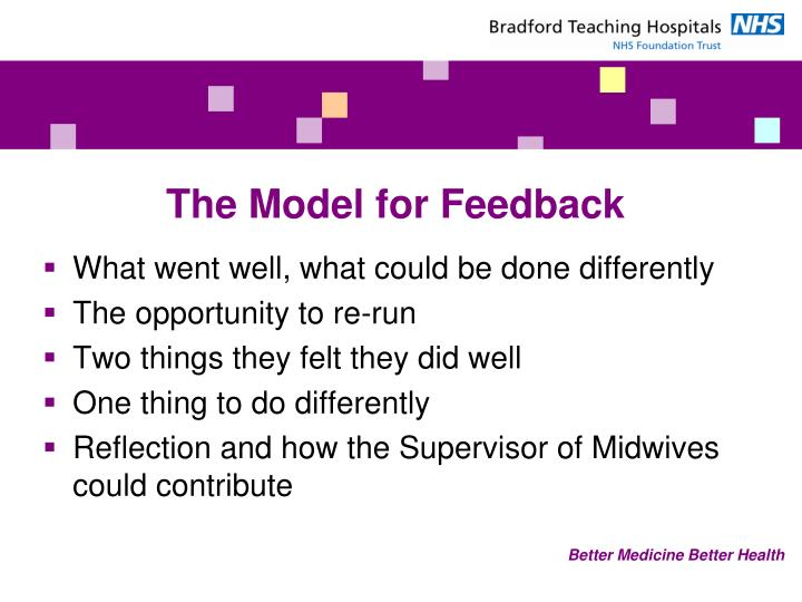 The Model for Feedback