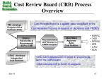 cost review board crb process overview