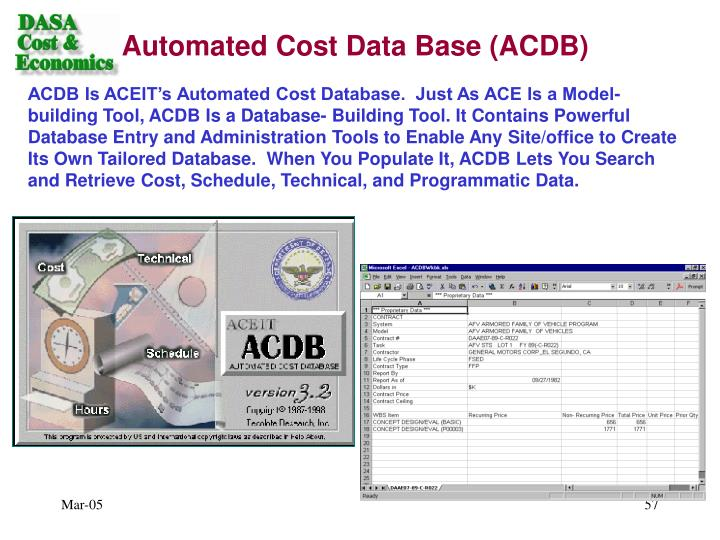Automated Cost Data Base (ACDB)