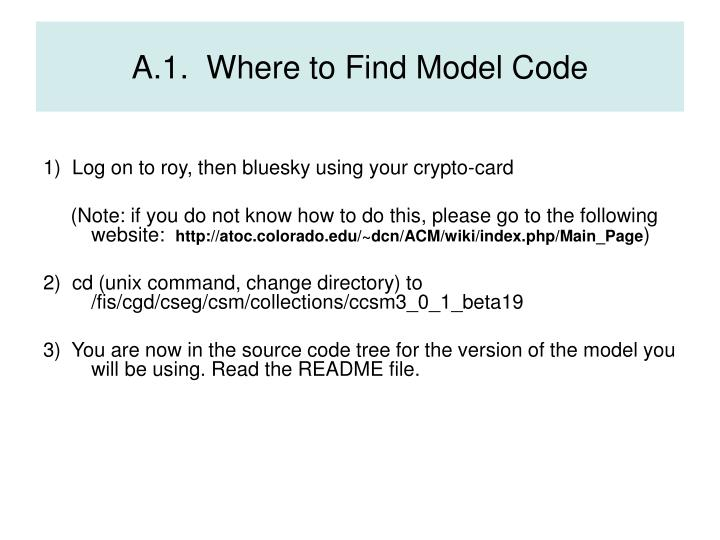 A.1.  Where to Find Model Code