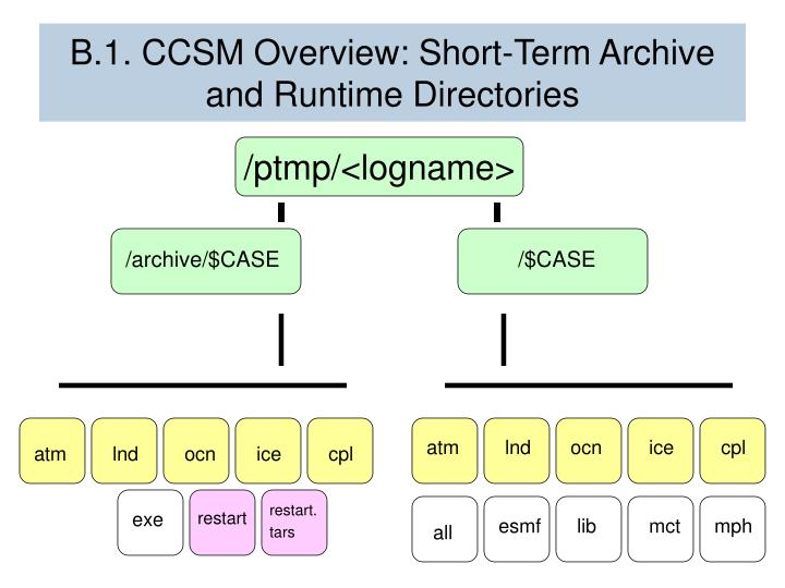 B.1. CCSM Overview: Short-Term Archive and Runtime Directories