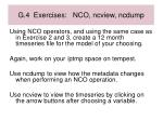 g 4 exercises nco ncview ncdump
