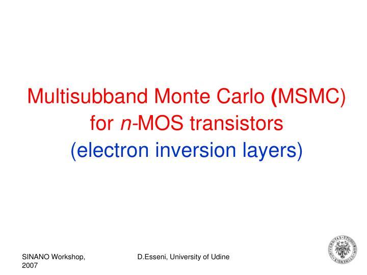 Multisubband Monte Carlo