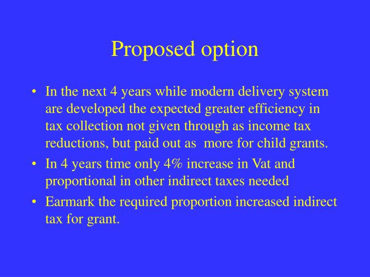 Proposed option