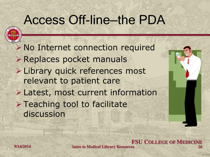 Access Off-line—the PDA